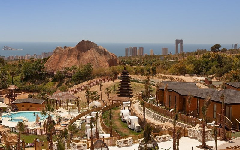 Aerial views of the resort natura animal, waterpark & polynesian resort magic magic natura animal, waterpark resort benidorm